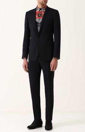 Текстильные дерби с кожаной отделкой Dior черные | Фото №1
