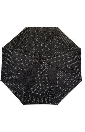 Женский складной зонт с принтом MOSCHINO черного цвета, арт. 8505-0PENCL0SE | Фото 1
