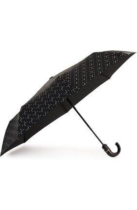 Женский складной зонт с принтом MOSCHINO черного цвета, арт. 8505-0PENCL0SE | Фото 2