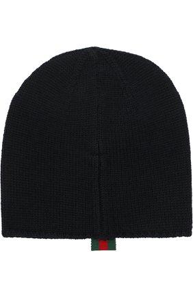 Детского шерстяная шапка GUCCI синего цвета, арт. 473567/3K706 | Фото 2
