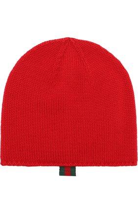 Детского шерстяная шапка GUCCI красного цвета, арт. 473567/3K706 | Фото 1