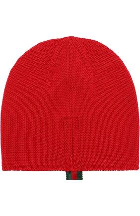 Детского шерстяная шапка GUCCI красного цвета, арт. 473567/3K706 | Фото 2