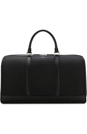 Текстильная дорожная сумка Viaggio с кожаной отделкой и плечевым ремнем | Фото №1