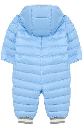 Детский пуховый комбинезон с капюшоном MONCLER ENFANT голубого цвета, арт. D1-951-14349-05-53048/3M-18M | Фото 2