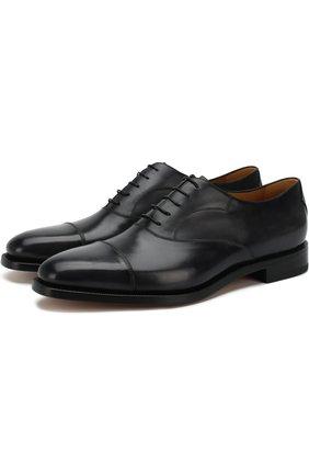 Мужские классические кожаные оксфорды BERLUTI темно-серого цвета, арт. S4012-002 | Фото 1