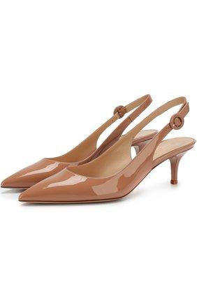Лаковые туфли Anna на каблуке kitten heel | Фото №1