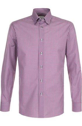 Мужская хлопковая рубашка с воротником кент BRIONI бордового цвета, арт. SC130N/P7058 | Фото 1