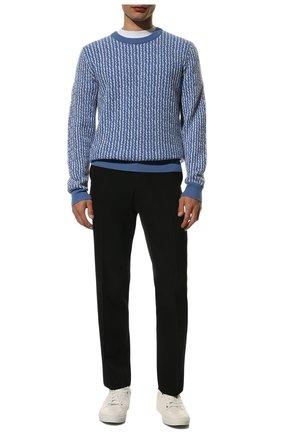 Мужские кожаные кеды на шнуровке BRIONI белого цвета, арт. QHG40L/P7714   Фото 2