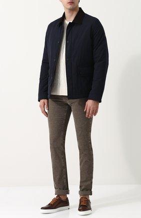 Мужские кожаные кеды BERLUTI коричневого цвета, арт. S4035-016 | Фото 2 (Статус проверки: Проверена категория, Проверено; Подошва: Плоская)