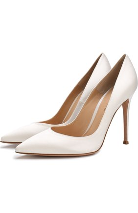 Атласные туфли Gianvito 105 на шпильке