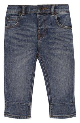 Детские джинсы с эластичной вставкой на поясе и прострочкой BURBERRY синего цвета, арт. 4063587 | Фото 1