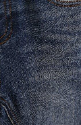 Детские джинсы с эластичной вставкой на поясе и прострочкой BURBERRY синего цвета, арт. 4063587 | Фото 3