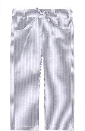 Хлопковые брюки в полоску на кулиске | Фото №1