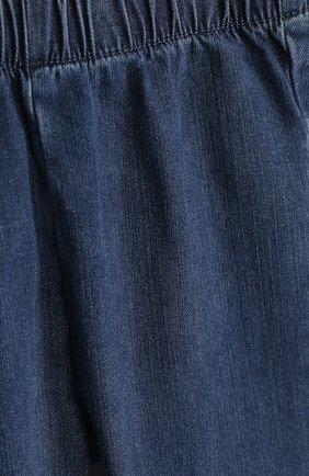 Детские джинсы с эластичным поясом и оборками IL GUFO синего цвета, арт. P18PR029J0003/12M-18M   Фото 3 (Материал внешний: Хлопок; Статус проверки: Проверено, Проверена категория; Ростовка одежда: 6 мес   68 см, 12 мес   80 см)