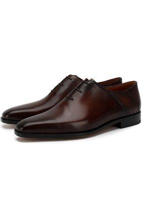 Мужские классические кожаные оксфорды BERLUTI темно-коричневого цвета, арт. S4279-001 | Фото 1