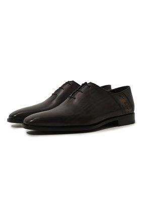 Мужские классические кожаные оксфорды BERLUTI черного цвета, арт. S4279-002 | Фото 1