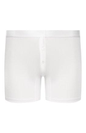 Мужские шелковые боксеры с широкой резинкой ZIMMERLI белого цвета, арт. 852-1408 | Фото 1