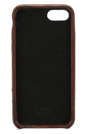 Мужской кожаный чехол для iphone 7/8 BERLUTI коричневого цвета, арт. X155097 | Фото 2