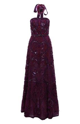 Платье-бюстье с поясом и вышивкой | Фото №1