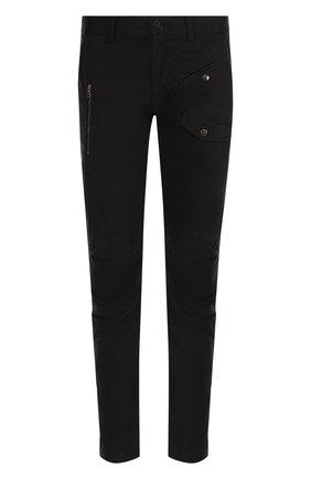 Хлопковые брюки прямого кроя Tomas Maier черные | Фото №1