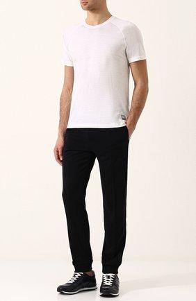 Мужская шерстяная футболка с круглым вырезом Z ZEGNA белого цвета, арт. VP391/ZZT653   Фото 2