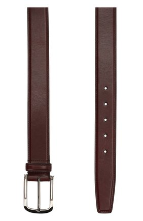 Мужской кожаный ремень с металлической пряжкой BRIONI бордового цвета, арт. 0BV50L/06763 | Фото 2