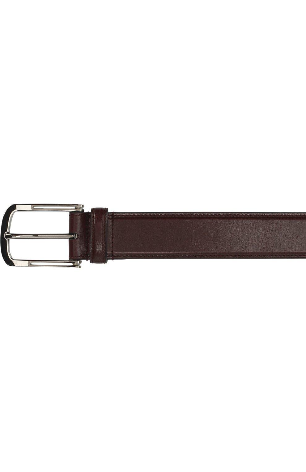 Мужской кожаный ремень с металлической пряжкой BRIONI бордового цвета, арт. 0BV50L/06763 | Фото 3