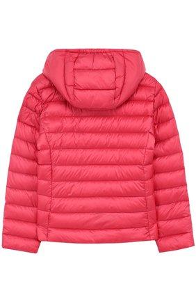 Пуховая куртка с капюшоном Moncler Enfant розового цвета   Фото №1