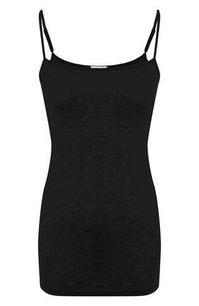 Женская хлопковый топ HANRO черного цвета, арт. 071343 | Фото 1