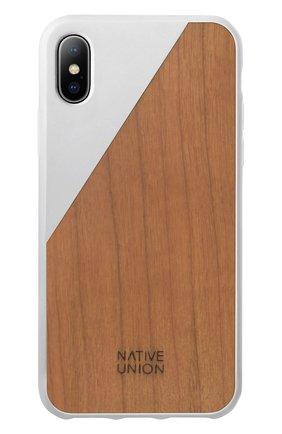 Чехол для iPhone X с деревянной отделкой | Фото №1