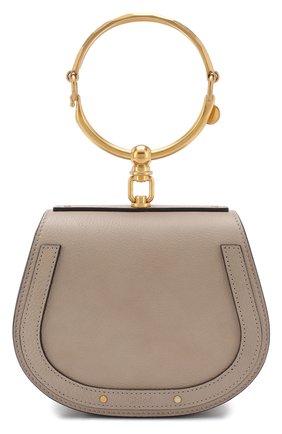 Женская сумка nile small CHLOÉ серого цвета, арт. CHC17US301HEU23W   Фото 1