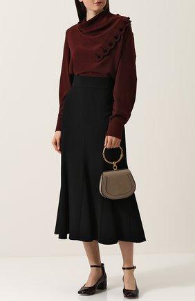 Женская сумка nile small CHLOÉ серого цвета, арт. CHC17US301HEU23W   Фото 2