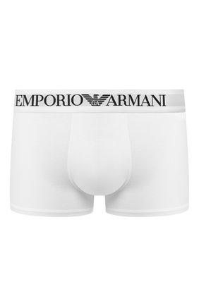 Мужские хлопковые боксеры  EMPORIO ARMANI белого цвета, арт. 111389/CC729   Фото 1