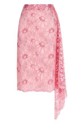 Кружевная юбка-миди асимметричного кроя | Фото №1