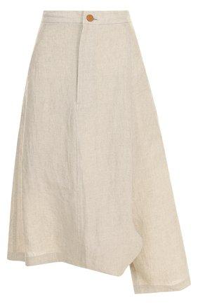 Укороченные льняные брюки   Фото №1