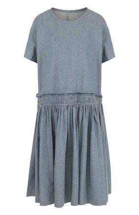 Платье свободного кроя из смеси льна и хлопка | Фото №1