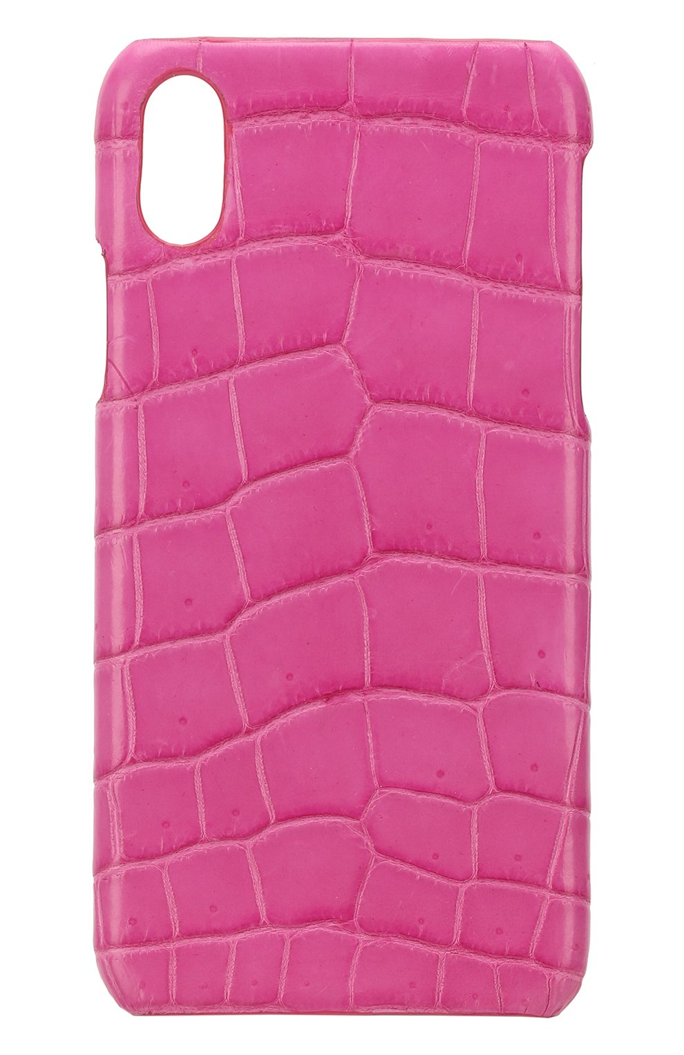 Мужской чехол для iphone x из кожи крокодила 2MESTYLE фуксия цвета, арт. DD895 | Фото 1
