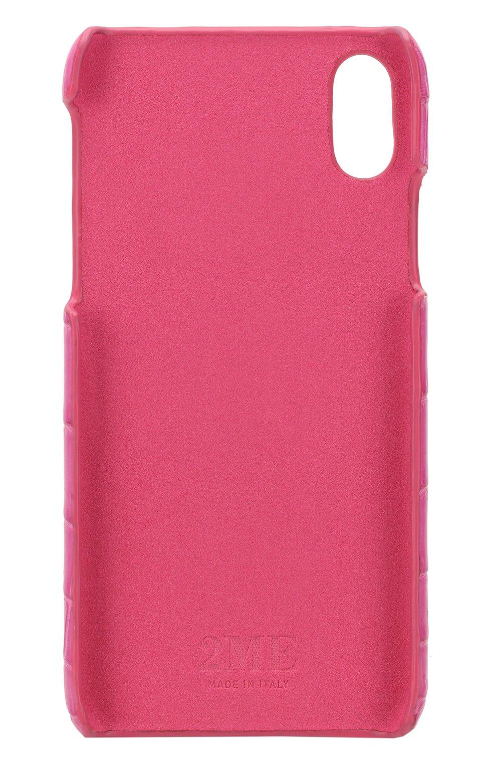Мужской чехол для iphone x из кожи крокодила 2MESTYLE фуксия цвета, арт. DD895 | Фото 2