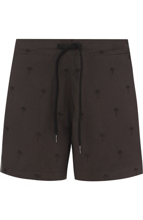 Хлопковые плавки-шорты с карманами | Фото №1