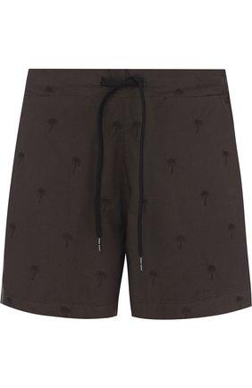 Хлопковые плавки-шорты с карманами Tomas Maier черные | Фото №1