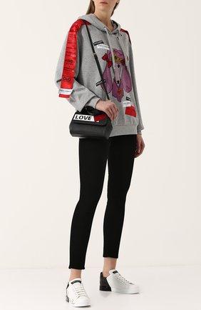 Женские кожаные кеды portofino DOLCE & GABBANA черного цвета, арт. CK1600/AI053 | Фото 2