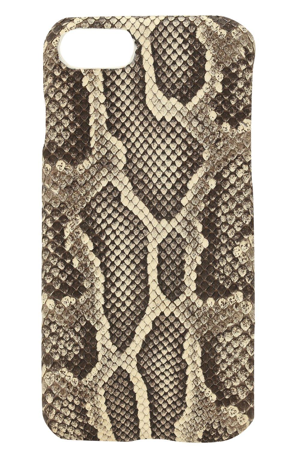 Чехол для iPhone 7/8 из кожи питона Hadoro  | Фото №1