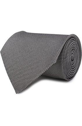 Мужской шелковый галстук TOM FORD черно-белого цвета, арт. 3TF11/XTF | Фото 1