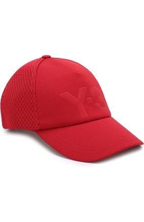 Бейсболка с перфорированной вставкой и логотипом бренда | Фото №1
