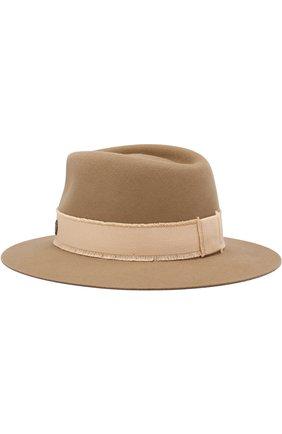 Фетровая шляпа Andre с лентой Maison Michel бежевого цвета | Фото №1