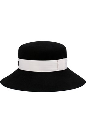 Фетровая шляпа New Kendall с лентой Maison Michel черного цвета | Фото №1