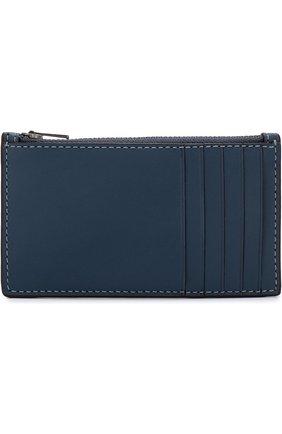 Кожаный футляр для кредитных карт с отделением на молнии | Фото №1