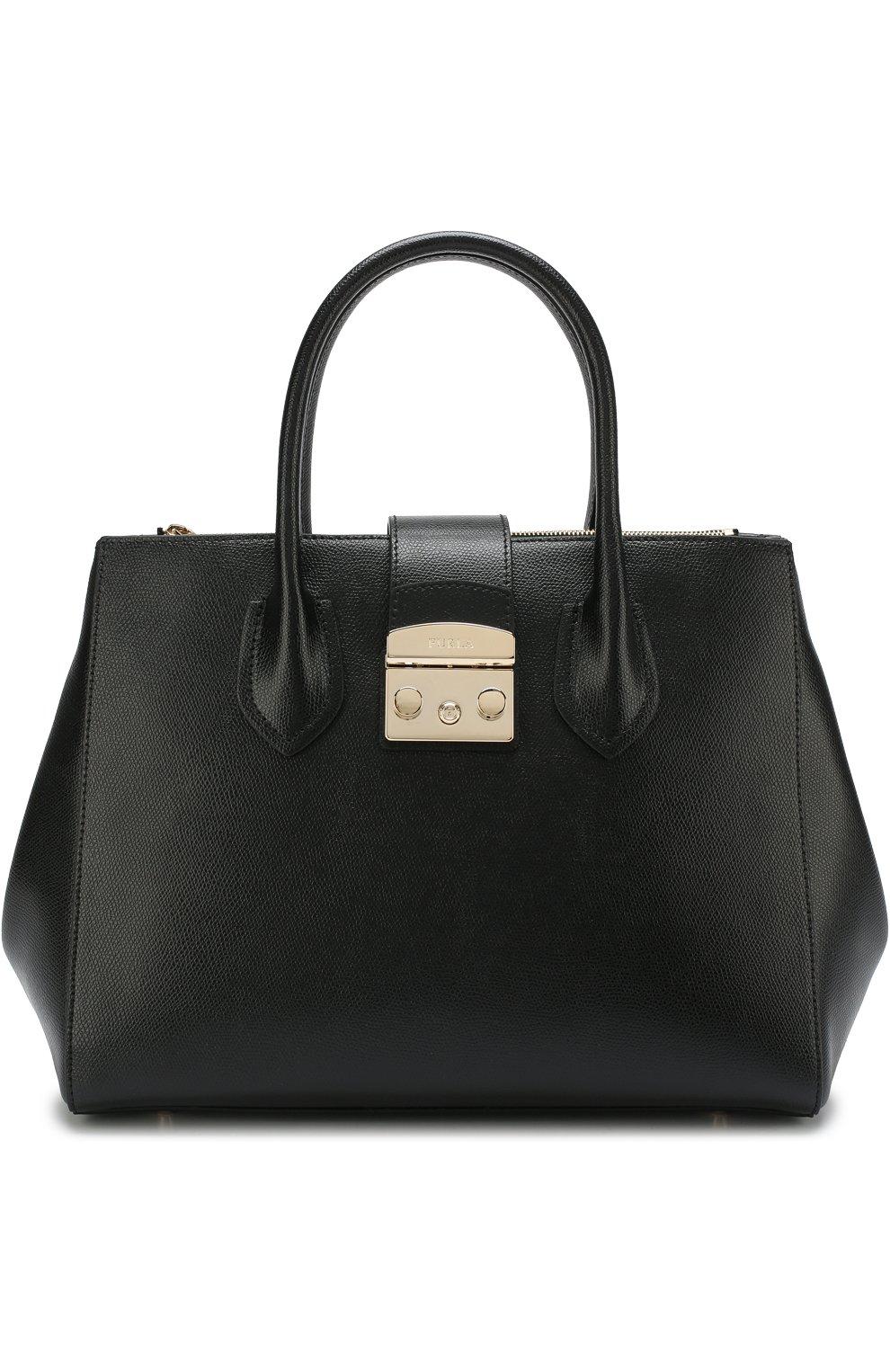 Женская сумка-тоут metropolis FURLA черного цвета — купить за 27500 ... 6a68f72a37a