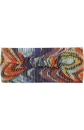 Вязаная повязка из вискозы Missoni разноцветного цвета   Фото №1