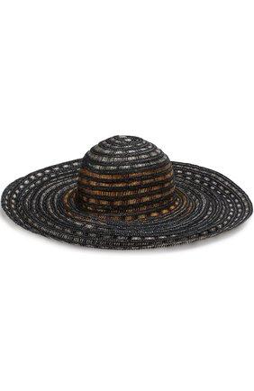 Пляжная шляпа с соломенной отделкой | Фото №1